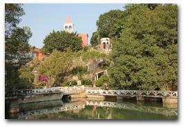 Botanischer Garten neben dem Nanputuo Tempel.
