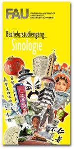 Flyer für den Bachelorstudiengang Sinologie.