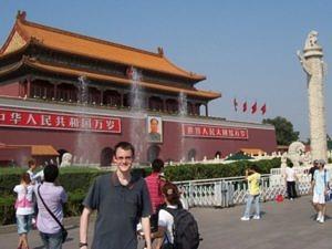 Maximilian Maydt vor der Verbotenen Stadt in Beijing.