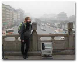 Leonie Sterzel in in Xiamen.
