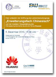 """Flyer """"Erweiterungsfach Chinesisch""""."""