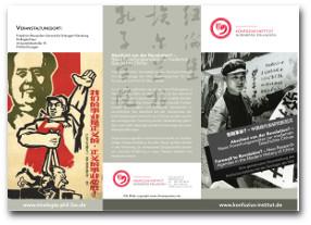 """Link zur PDF des Flyer der """"Vortragsreihe Abschied von der Revolution? - Neue Forschungsansätze zur modernen Geschichte Chinas"""" des KI Nürnberg-Erlangen."""