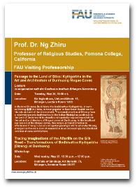 Flyer für die Gastprofessur von Prof. Dr. Ng Zhiru.