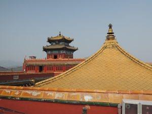 Das goldene Dach eines chinesischen Palastes.