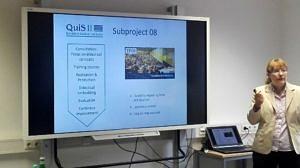 Die Huawei-Whiteboards im Gebrauch.