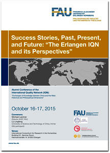 """Flyer des Projektes """"Success Stories, Past, Present, and Future: 'The Erlangen IQN and its Perspectives'""""."""