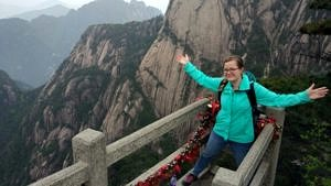 Sabrina Rosenzweig auf dem Huangshan.