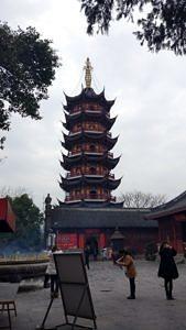 Eine Tempelpagode.