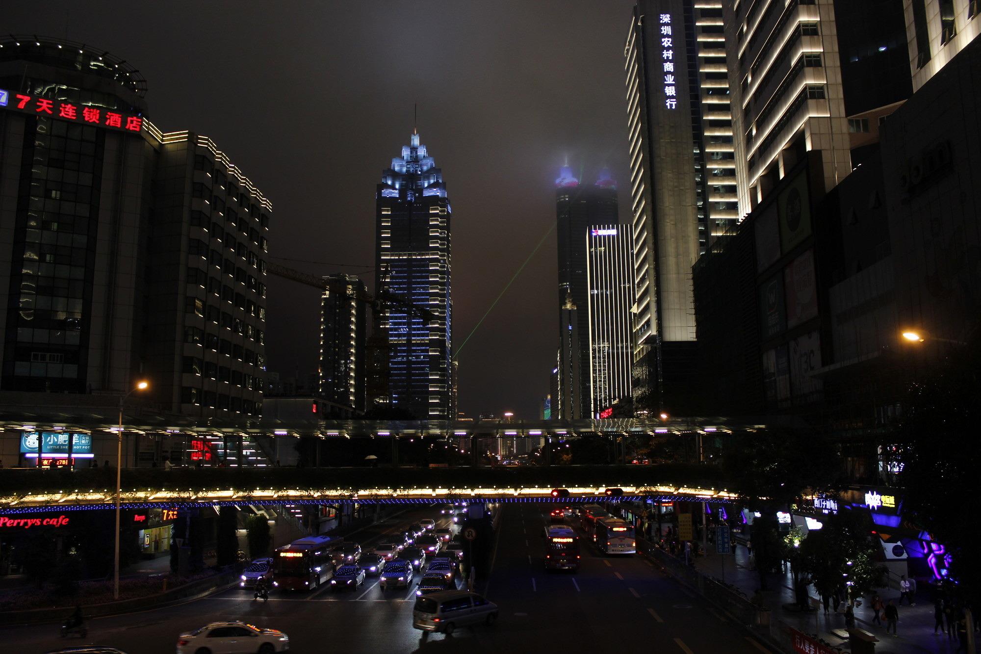Shenzhen bei Nacht.