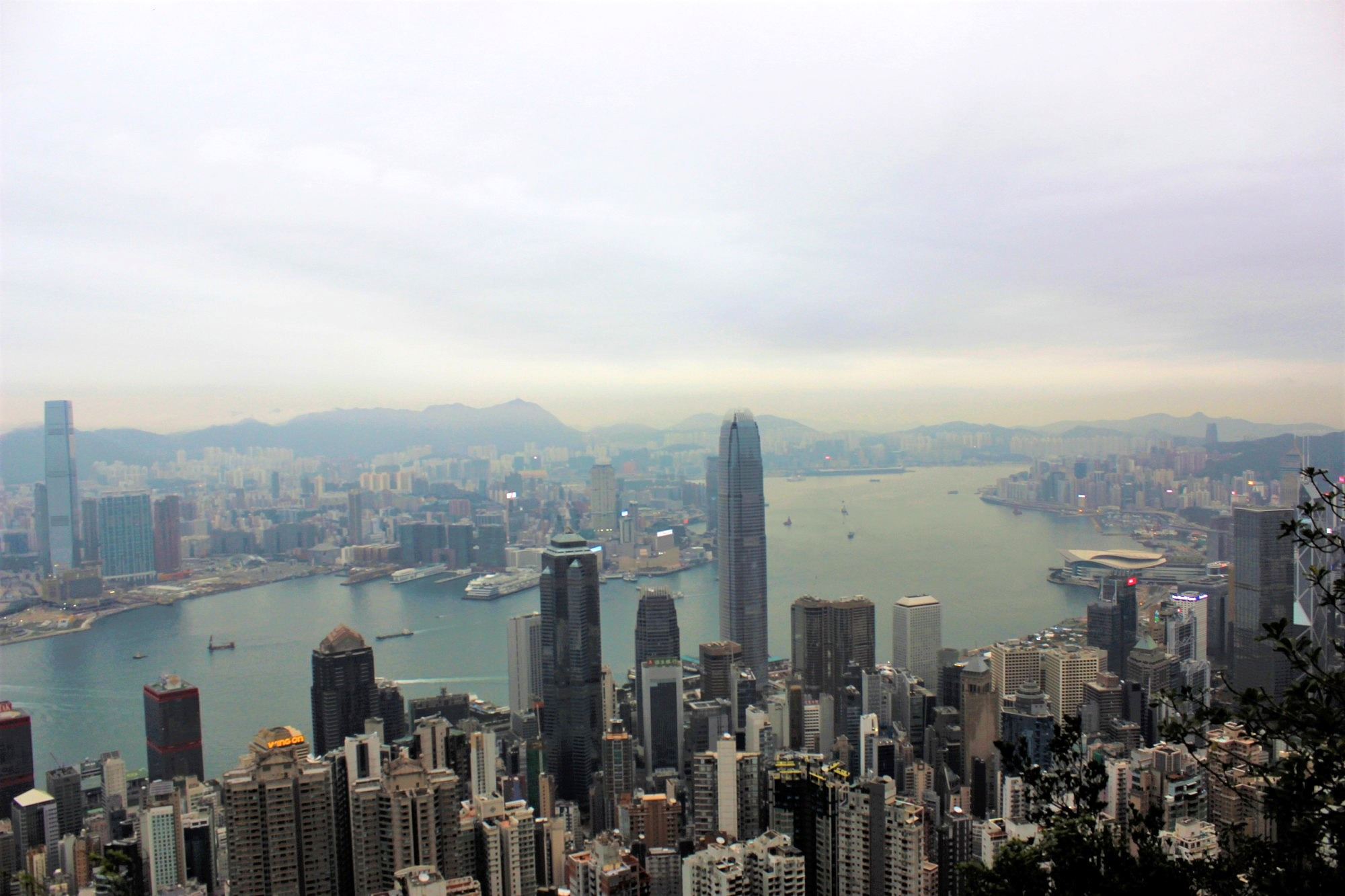 Ausblick auf Hongkong vom Victoria Peak.