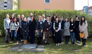 Ein Gruppenfoto der am E-Learning-Projekt beteiligten Personen.