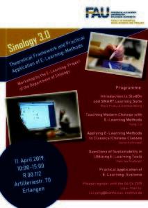 """Der Flyer """"Sinologie 3.0"""" für die Bewerbung des E-Learning-Projekt."""