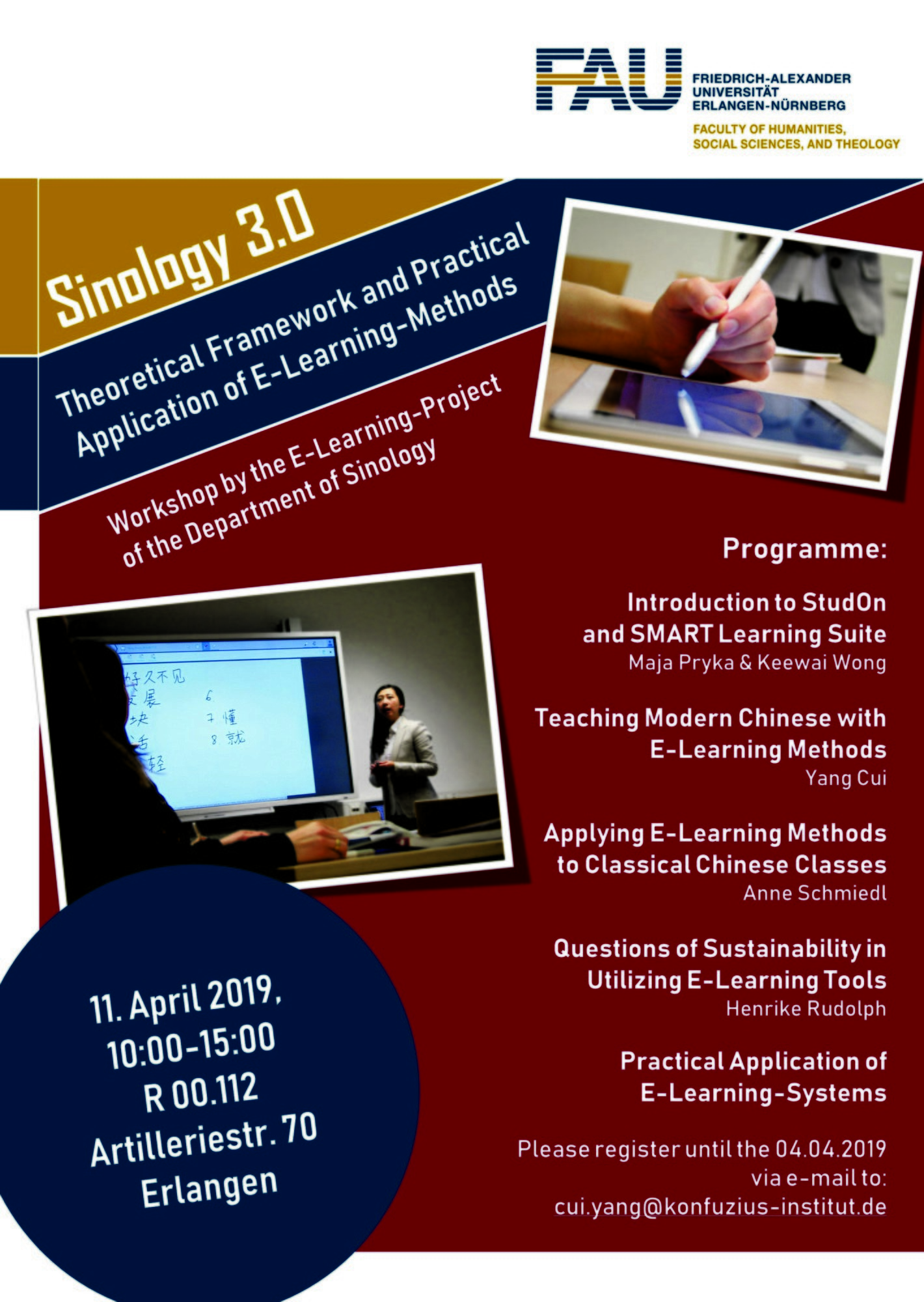 "Zum Artikel ""Workshop ""Sinology 3.0 – Theoretical Framework and Practical Application of E-Learning-Methods"""""